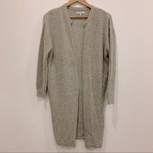 Oak + Fort open drape front knit cardigan sweater